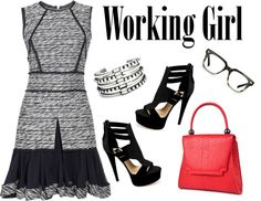 """""""Working Girl - Yes You Can Rock Tweed in Spring"""" by latoyacl on Polyvore"""