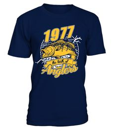 1977 The Birth Of Anglers  #gift #idea #shirt #image #funny #fishingshirt #mother #father #lovefishing