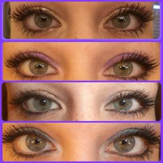 These are all my eyes!! I just wanted to show how changing pigments can change my eye color! So very cool!!