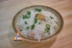 Authentic Thai recipe for Thai Congee, Rice Porridge, Pork from ImportFood.com.