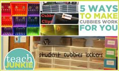 Getting your classroom set up usually means creating student cubby (cubbie) spaces. Cubbies hold student papers and/or sometimes larger items depending upon the need for storage in a classroom. Her... cubbi work