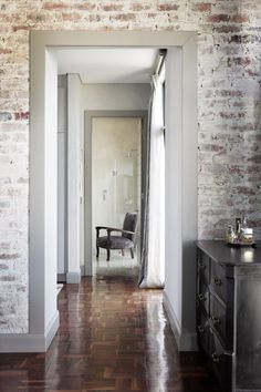 Elegant Joburg Home | House and Leisure. Brick walls white-washed just about right.