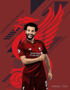 Liverpool top stricker and forward, Mohammed Salah in vector illustration. The Egyptian King Liverpool Football Club, Liverpool Fc, Football Player Messi, Football Wallpaper Iphone, Mohamed Salah Liverpool, Muhammed Salah, Liverpool Wallpapers, Egyptian Kings, Champions Of The World