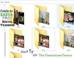 I always create a digital scrapbook to save those memories every year! Fantastic fast & easy DIY digital yearbook tips.