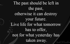 Stop bringing up the Past!