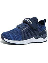 Kids Trainers Breathable Knit Lightweight Mesh Athletic Running Shoes for Boys 1