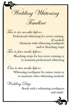 Wedding Wednesday: Getting the pearly whites… pearly white - dental whitening timeline