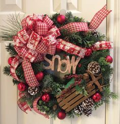click on photo to purchase Let it Snow with Sleigh Christmas Holiday by Trailofcreations