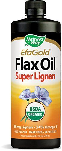 EFA Gold Flax Oil Super Lignan 24 oz LiquidProduct Description Nature's Way EFAGold is the highest quality Flax seed oil – guaranteed to contain alpha-linolenic acid (ALA) and Flax Lignans from non-GMO seeds. ALA is an important Omega-3 essential fatty acid which must be obtained in... more details at http://supplements.occupationalhealthandsafetyprofessionals.com/herbal-supplements/flaxseed/product-review-for-natures-way-flax-oil-super-lignan-24-ounce/