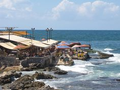Cafe at seaside of Beirut