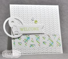 Welcome Baby Card by Kim Singdahlsen #Cardmaking, #TEMatched, #Baby, #EmbossingFolders, #PocketsandPages, #TE, #ShareJoy