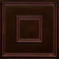 "Faux Tin Ceiling Tile 24""x 24"" #208 - Designer Ceiling Tiles"