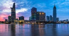 The Reverie Saigon - Exterior at Sunset