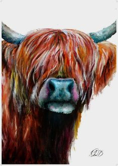 Artist Laurie Raye Highland Cow Painting, Highland Cow Print, Highland Cattle, Best Outdoor Furniture, Cheap Furniture, Diy Courses, Wood Sealer, Home Decor Uk, Inside Design
