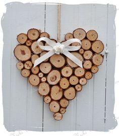 Rustic log heart.  www.bynicki.co.uk