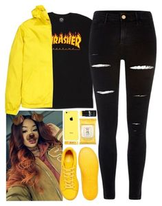 """Thrasher"" by mncx1 ❤ liked on Polyvore featuring adidas, River Island, H&M and Burt's Bees"