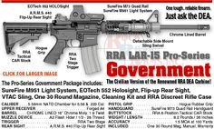 Rock River Arms, Inc. offers a complete line of American made, custom built style rifles. Rock River Arms, Quad Rail, Tech Toys, Surefire, Work Tools, Guns And Ammo, Lighting System, Self Defense