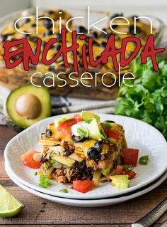 This super EASY Chicken Enchilada Casserole Recipe is a long time family favorite! It combines great flavors into a no-fuss dinner! Chili's Chicken Enchilada Soup, Chicken Enchiladas, Chicken Tamales, Enchilada Recipes, Mexican Food Recipes, Dinner Recipes, Ethnic Recipes, Mexican Meals, Mexican Dishes