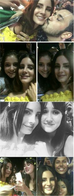 Lana Del Rey with fans at the Osheaga Festival in Montreal #LDR