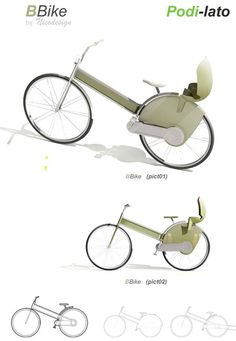 Podi Lato Bicycle is Made From Aluminium and Recycled Materials  Podi Lato bicycle has been created with a bicycle concept that can meet the requirements of all range of people. The concept includes a two wheeler basic bicycle and an additional part that can be attached with this bike to meet the special requirements of an individual. This part can be used as a baby seat, double seat ideal for twins, mini container when shopping, an added seat for handicapped and many more.