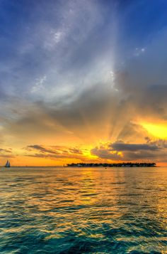 Sunset over Sunset Key in the Florida Keys, USA