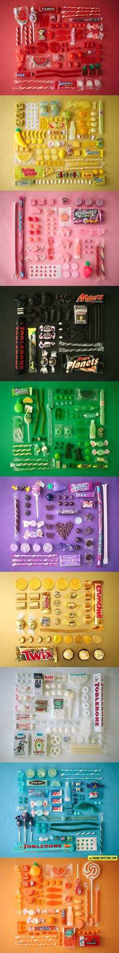 Colour-coded candy… great to have when putting together a candy table
