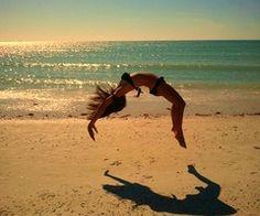 Back-handspring on the Beach:)