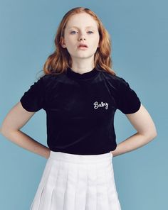 Lazy Oaf Baby Velvet T-shirt - View all - NEW IN - Womens
