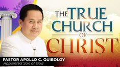 'The True Church of Christ' by Pastor Apollo C. Spiritual Enlightenment, Spirituality, New Jerusalem, Churches Of Christ, Great Leaders, Son Of God, Apollo, Need To Know, Jesus Christ