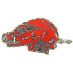 """Razorback Boar Pin Red 1"""" by FindingKing. $8.99. This is a new Razorback Boar Pin Red 1"""""""