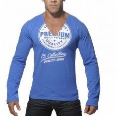 TS070 LONG SLEEVES PRINTED T-SHIRT Blue Printed, Long Sleeve, Sleeves, Mens Tops, T Shirt, Blue, Fashion, Supreme T Shirt, Moda