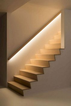Staircase Lighting Ideas, Stairway Lighting, Home Lighting Design, Strip Lighting, Interior Lighting, Ceiling Lighting, Bedroom Lighting, Pendant Lighting, Staircase Decoration