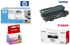 HP Q5949XD (49XD) Genuine High Yield Dual Pack BlackToner Cartridge with Brother and Canon Black Toner Cartridge