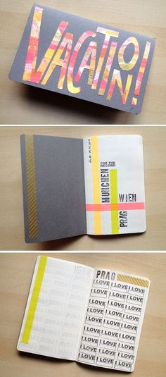 DIY Scrapbooking Washi Tape Projects | DIY Travel Journal by DIY Ready at http://diyready.com/100-creative-ways-to-use-washi-tape/