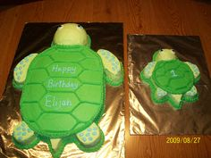 DIY Turtle Pull Apart Cupcake Cake Birthday cake ideas Pinterest
