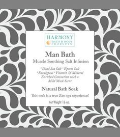 Man Bath Infusion - The Most Amazing Bath Soak! Soothes Your Muscles, Balances and Relaxes the Body and Spirit… Can Also Be Used As a Foot Soak or a Body Scrub - 16 Oz
