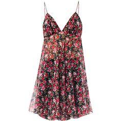 Saint Laurent Floral Liberty-print babydoll dress found on Polyvore