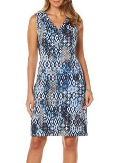 Rafaella Women's Foulard Blues Dress - Black/Blue - S