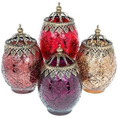 Moroccan Large size Tea Light Holder lantern In 4 Stunning Colours in Home, Furniture & DIY, Home Decor, Candle & Tea Light Holders Glass Tea Light Holders, Large Candle Holders, Lantern Candle Holders, Glass Candle Holders, Candle Lanterns, Party Lights, Tea Lights, Mehndi Decor, Moroccan Theme