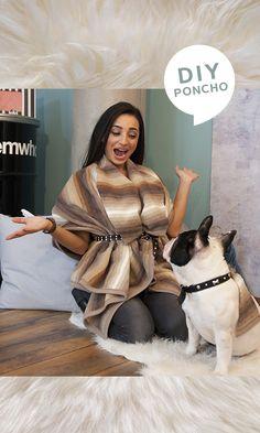 Eben noch Tagesdecke – jetzt schon ein ultrastylischer Poncho! Elym zeigt dir in ihrem Quick & Easy Fashion DIY, wie du dir mit nur wenigen Schnitten und Aufwand dein neues Lieblingsstück zauberst.