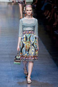 Dolce & Gabbana Spring 2013 Runway Pictures - StyleBistro