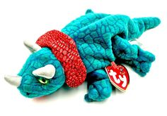 1fdb42ac74e TY BEANIE BABY HORNSLY THE TRICERATOPS DINOSAUR Beanie Babies Collection  PLUSH Ty Babies