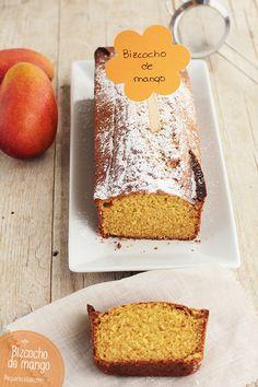 Bizcocho de mango, ¡una receta exquisita! , Bizcocho de mango, ¡una receta exquisita! Un bizcocho casero delicioso con mango. No os perdáis esta receta fácil y riquísima, ¡os encantará!