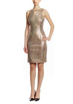 On ideel: Gold Sequin Keyhole VINCE CAMUTO Sleeveless Keyhole Neckline Sheath Dress $70 LOVE GORGEOUS