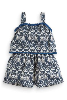 £10 Buy Navy Ikat Printed Playsuit (3mths-6yrs) from the Next UK online shop