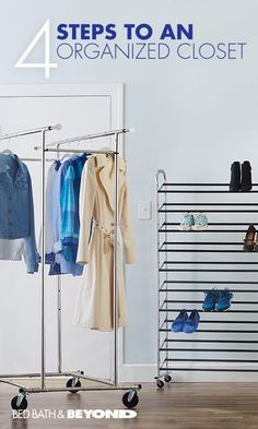 ALL SEASONS CLOSET ORGANIZATION  If you're tired of reorganizing your closet each time a new season rolls around, then this is for you. Use these helpful organization products that'll keep your closet organized year-round - no giant storage tubs or attic crawls involved.