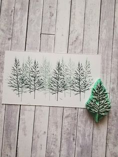 Christmas Tree Cards, Christmas Crafts For Gifts, Stamp Printing, Printing On Fabric, Fabric Stamping, Rubber Stamping, Lino Art, Clay Stamps, Stamp Carving