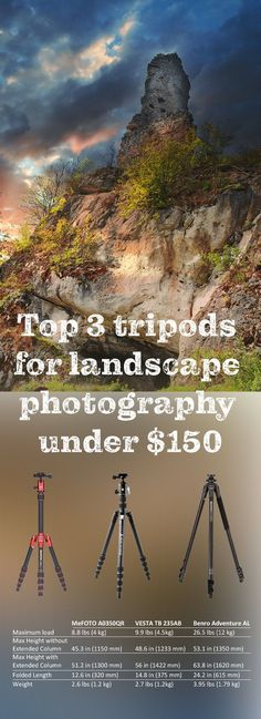 Top 3 tripods for landscape photography under $150: MeFOTO A0350QR VESTA TB 235AB Benro Adventure AL Tripod Dslr Photography, Photography Website, Photography Business, Amazing Photography, Landscape Photography, Great Pictures, Taking Pictures, Best Cameras For Travel, Latest Generation