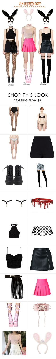 """""""Candy Ninjas -- WLM Halloween Party"""" by candy-ninjas ❤ liked on Polyvore featuring Wolford, Fleur du Mal, Calvin Klein Underwear, Emilio Pucci, Edge o' Beyond, Abercrombie & Fitch, Fannie Schiavoni, Guild Prime, River Island and Sugarbaby"""