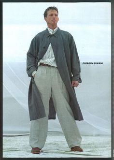 #Atribute Giorgio Armani 1982′s Mens Fashion ph Aldo Fallai